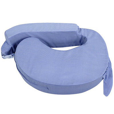 Baby Breast Feeding Support Memory Foam Pillow with Zip Cover Blue Nursing Aid