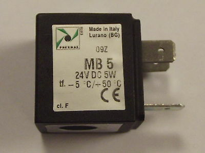 Pneumax MB5 24v DC, 5 watt Solenoid Coil, New for use with Pneumax Valves MB 5