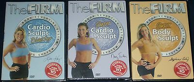 The FIRM Body Sculpting System - Lot of 3 NEW DVDs - Cardio Sculpt & Body Sculpt