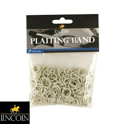 LINCOLN PLAITING BANDS *WHITE* Horse/Pony, Mane/Tail, Showing *FREE P&P*