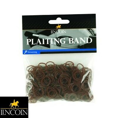 LINCOLN PLAITING BANDS *BROWN* Horse/Pony, Mane/Tail, Showing *FREE P&P*