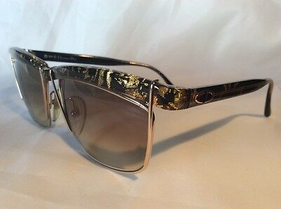 Christian Dior 2552 Vintage Black / Gold Sunglasses Made In Germany
