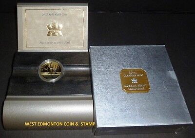 2002 $100 Gold Coin - Canada Oil Industry - Leduc - Black Coloured - 1/4Oz. Gold