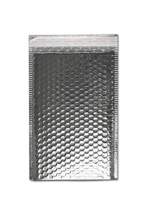 Size 13.75x11 Metallic Silver Metalized Glamour Bubble Mailer 50 Qty