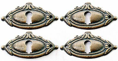 Solid Brass Victorian Style Keyhole Escutcheons Set of 4 Pendant Light