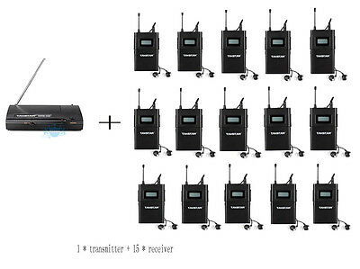 WPM-200 Wireless Monitor System UHF In-Ear Wireless Headphones & Ear 15 Receiver
