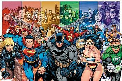 DC Comics : Justice League Characters - Maxi Poster 91.5cm x 61cm (new & sealed)