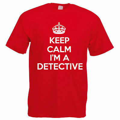 Private Investigator Novelty Themed Mens T-Shirt KEEP CALM I/'M A DETECTIVE
