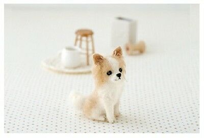 Long Haired Chihuahua - Needle Felted Dog Making Kit Wool Animal Patterns Puppy