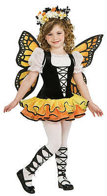 Child's Girls Yellow Butterfly + Wings Fairy Animal Fancy Dress Costume 1-10 yrs