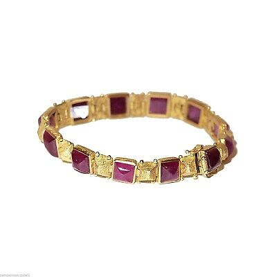 Bracelet 18k Gold and Rubys.    18K金红宝石和手链   (0714)