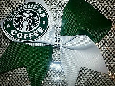 Starbucks Forest GREEN Cheer Bow BIG BOW!!!