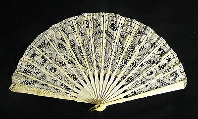 Antique Carved  Fan 19th century