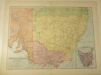 MAP FROM AN EARLY 20th CENTURY ATLAS - AUSTRALIA - VICTORIA & N.S.W...........21