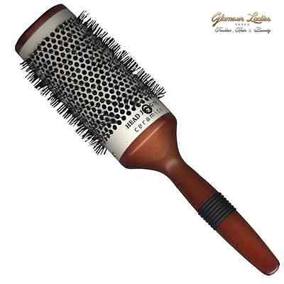 Head Jog 73 (63mm) Hair Brush Ceramic Radial Professional Quality Wooden Handle