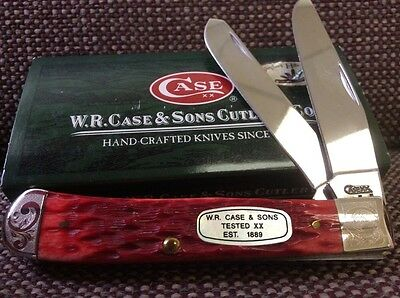 Case 2008 Trapper with MOP Shield # 004 Of 250. Red Jig Bone, Etched Bolsters