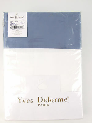 Yves Delorme - Cocon Baltic Flat Sheet 300Tc Egyptian Cotton Over 65% Off Rrp