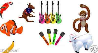 Inflatable Blow Up Toys Banana Guitar Halloween Stag Hawaiian Fancy Dress Party