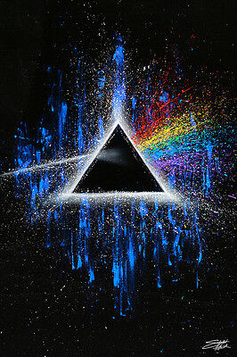 PINK FLOYD - DARK SIDE OF THE MOON - ART POSTER - 24x36 FISHWICK MUSIC BAND 9867