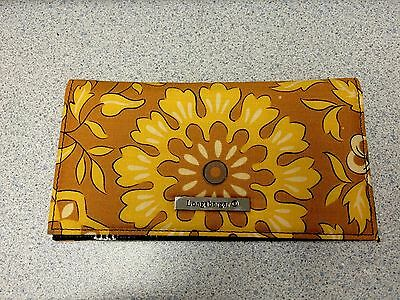 Longaberger Checkbook Cover Golden Fields CoordinateFabric Sisters Wallet Change