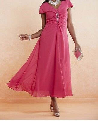 Mother of Bride Groom Evening Wedding Women's Cocktail Gown Prom Dress plus1X 2X