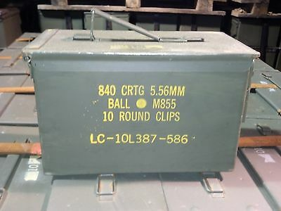 Military Surplus 50 Cal / 5.56 Ammo Cans Boxes  Very Good / Used Once