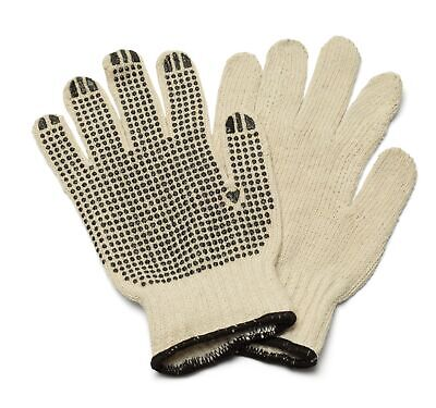 Black PVC Double Dotted Hand Gloves for Men/'s Size w// Comfort 2 Dz 24 Pairs