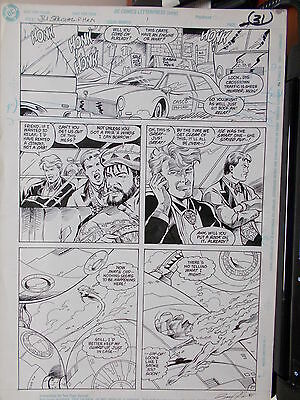 Justice League International Special #1 P 27 ***Bruce Patterson ( SIGNED)
