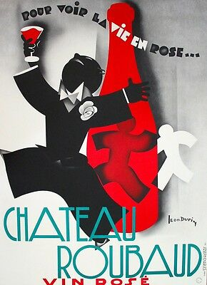 Chateau Roubaud Vintage Wine Poster Hand Pulled Lithograph LARGE 36x60