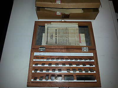 Fowler 52-670-010 gage block set BG-36 A vintage 36 pc grade A 1967