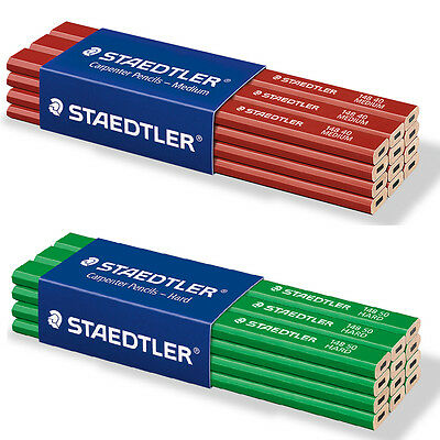 Staedtler Carpenters Pencils Hexagonal Medium Lead 2H AND Hard Lead 6H Degree