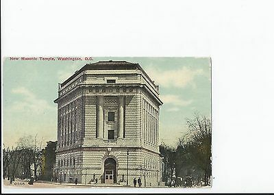 The Mysterious Masonic Influence in Washigton D.C .Circa 1911 Postcard