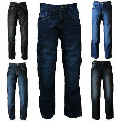 Urban Men's Motorbike Motorcycle Jeans Biker Denim Trousers Protective Lining