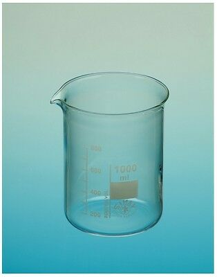 Simax 100ml Low Form Borosilicate Glass Beaker with Graduation and Spout
