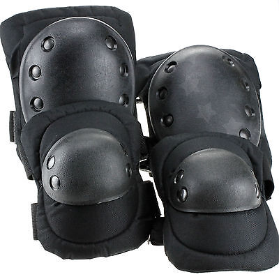 Tactical Military Army Elbow & Knee Pads Airsoft Paintball Skate Equipment Set