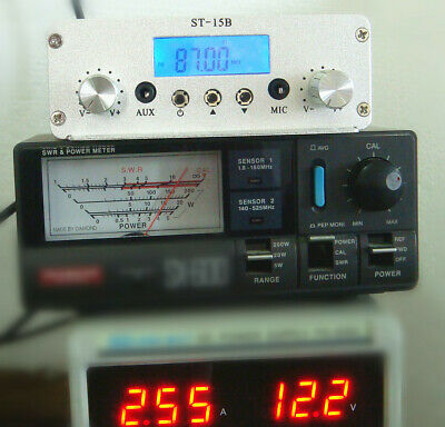 15W stereo PLL FM transmitter broadcast Wireless audio broadcasting only host