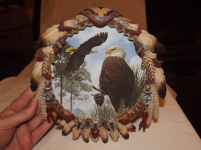 """THE HAMILTON COLLECTION PLATE """"WATCHFUL EYE"""" """"SOARING SPIRITS"""" SHIELD COLLECT 41"""