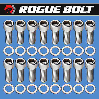 """Ford 390 427 428 1 1//2/"""" Long Stainless Steel Exhaust Header Stud Kit NEW"""