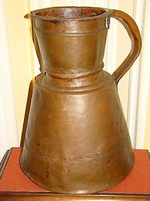 Antique Handmade Heavy Copper Persian/Arabic/Turkish/Islamic Water Jug/Pitcher