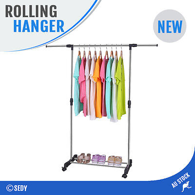 Portable Clothes Hanger Rack Organizer Stainless Steel Garment Dryer 15Kg