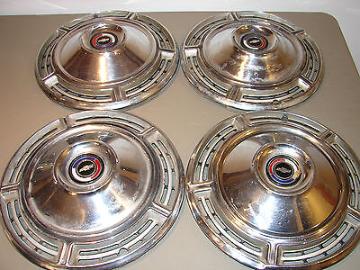 """Set of 4 Chevrolet Chevelle 14"""" hubcaps 1968 wheel covers Chevy"""