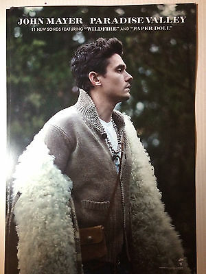 John Mayer Paradise Valley RARE Poster Promo + FREE POSTER! NEW Double-Sided