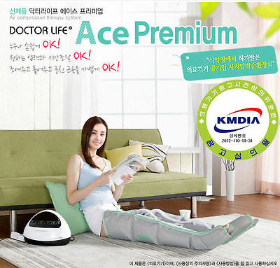 Doctor Life Ace Premium Air Compression Massager New [ Device+2 Leg Cuff]