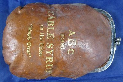 Antique Rare Advertising Purse ABC Brand Table Syrup on Hot Cakes