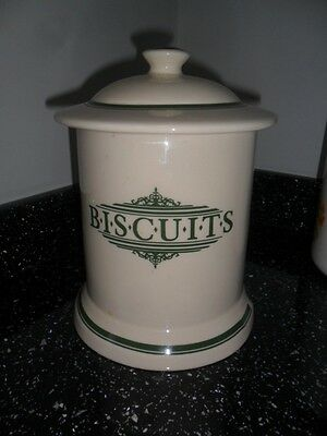 1869 Victorian Pottery Biscuit Jar  - Green