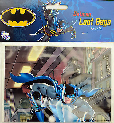 Batman Birthday Party Supplies Loot Lolly Treat Bag - Pack of 8