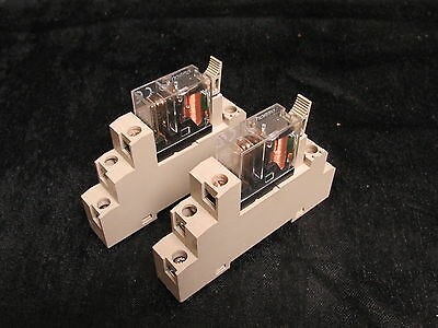 Omron P2Rf-05-E Base 10A 250V With G2R-1-Snd Relay 24Vdc (Lot Of 2) ***xlnt***