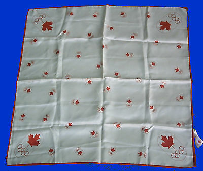 Orig.scarf     Olympic Games MONTREAL 1976  //  58 x 58 cm  !!   EXTREM RARE