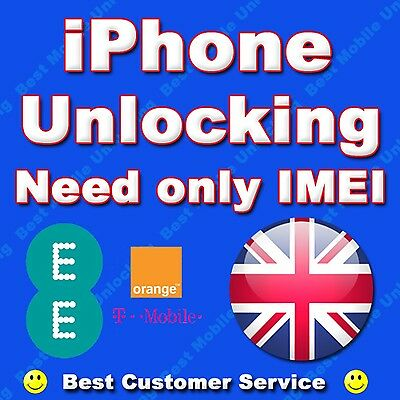 iPhone 5 5S 5C SE 6 Permanent Factory Unlocking Service For UK EE Orange Tmobile