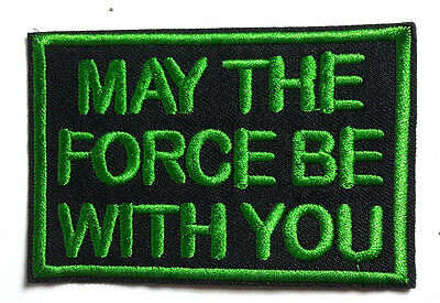 "Star Wars 3.5"" ""May the Force Be with You"" Logo Patch- FREE S&H (SWPA-FC-07)"